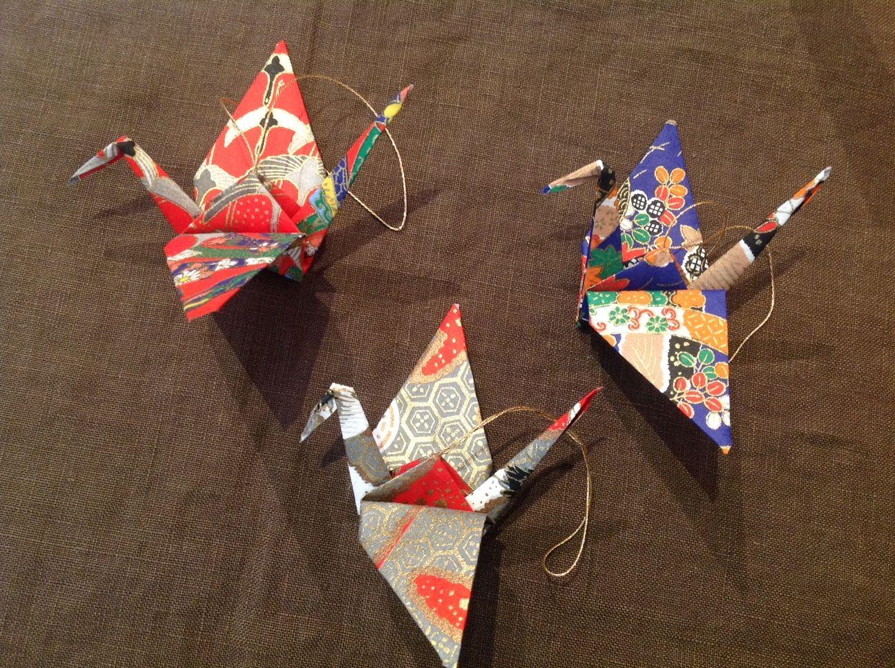Origami Cranes Old Japan