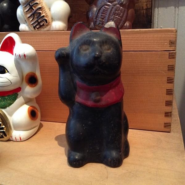 antique black cat