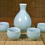 Celadon Sake Set with Classic Cups