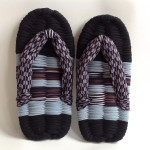 Black & Light Blue w/ Purple Arrows, Eco-Zori Japanese Slippers