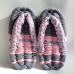 Grey & Pink Eco-Zori Japanese Slippers