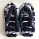 Navy & White Eco-Zori Japanese Slippers