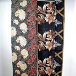 Black & Red Arabesque and Floral Noren