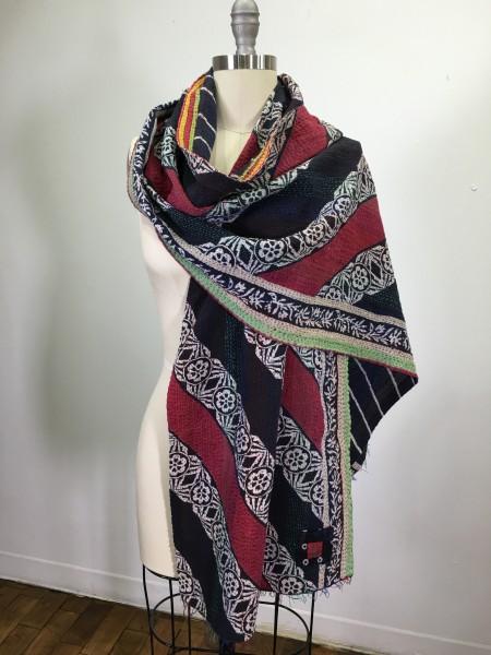 red-white-black-kantha-scarf