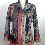 Paisley Black & White  (with Red) Reversible Short Jacket