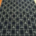 "Antique Indigo Futon-gawa with ""Plaid"" E-gasuri Designs"