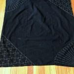 Indigo Furoshiki with Sashiko Stitching