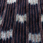 Indigo Futon Cover with Red Line-dyed Stripe Ikat