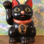 Black Ceramic Lucky Cat