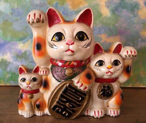 Maneki Neko Beckoning Lucky Cats Old Japan