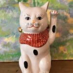 Porcelain Beckoning Lucky Cat