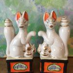 Pair of Kitsune Foxes