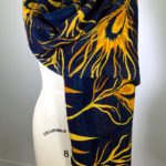 Black & Yellow/Gold Kantha Reversible Scarf