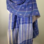 Soft Blue Reversible Kantha Scarf