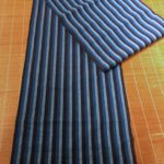 Indigo Line-Dyed Cotton Striped Yardage