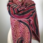 Arabesque Pattern Red & Black Scarf