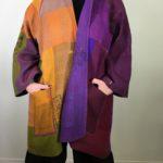 Mieko's Kantha Patched Rainbow A-Line Jacket #1