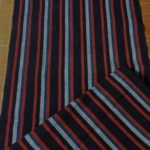 Navy, Red, Blue & White Cotton Striped Yardage