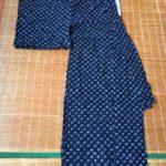 Small Pattern Shibori Yukata (Cotton Kimono)