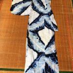 Vintage Yukata with Shibori Tie-dye (Summer Cotton Kimono)