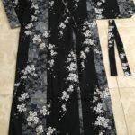 Black Cherry Blossom Cotton Kimono