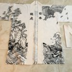 "Hanten ""Festival"" Jacket with Dragon, Tiger, and Hawk ""Tattoo  Irezumi"" Pattern"