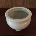 Large White Celadon Vintage Incense Burner