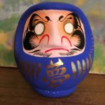 Blue Daruma to fulfill your Dream
